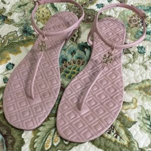 025657180e2 Tory Burch Shoes - Tory Burch Marion Quilted T-Strap Sandal Clay Pink